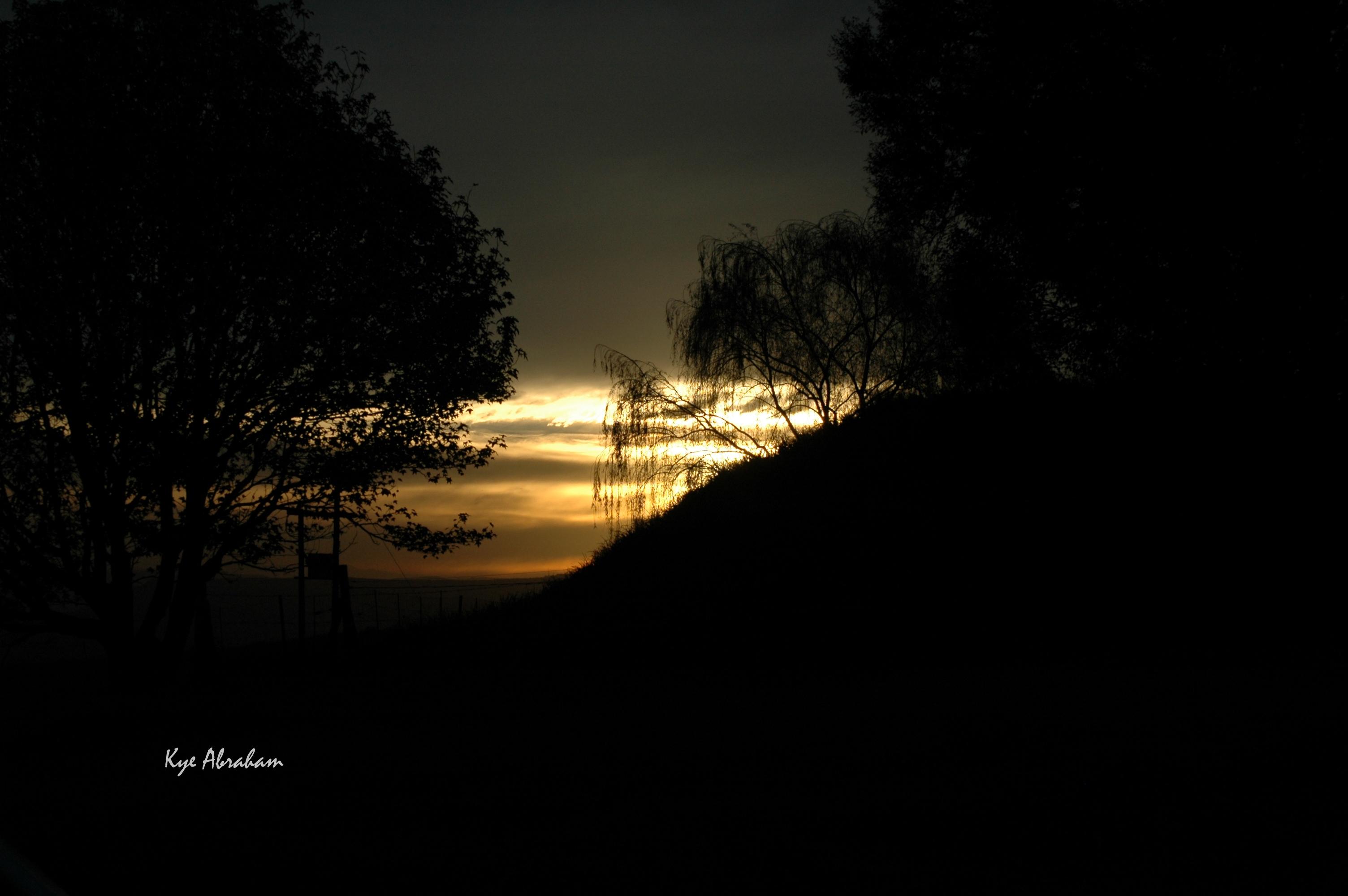 dark sunset